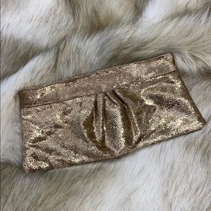 Style & Co Gold Shimmer Clutch
